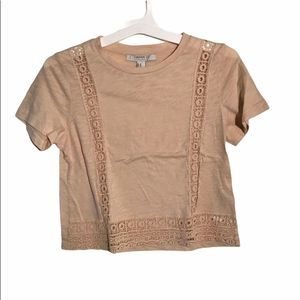Forever 21 T-shirt with boho lacy design